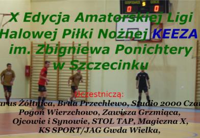Startuje X Edycja Amatorskiej Ligi Halowej Piłki Nożnej KEEZA im. Zbigniewa Ponichtery w Szczecinku. Terminarz i Regulamin